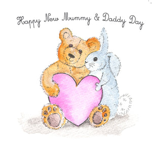 """Happy New Mummy & Daddy Day"" #Heart996 - New Parents Card"