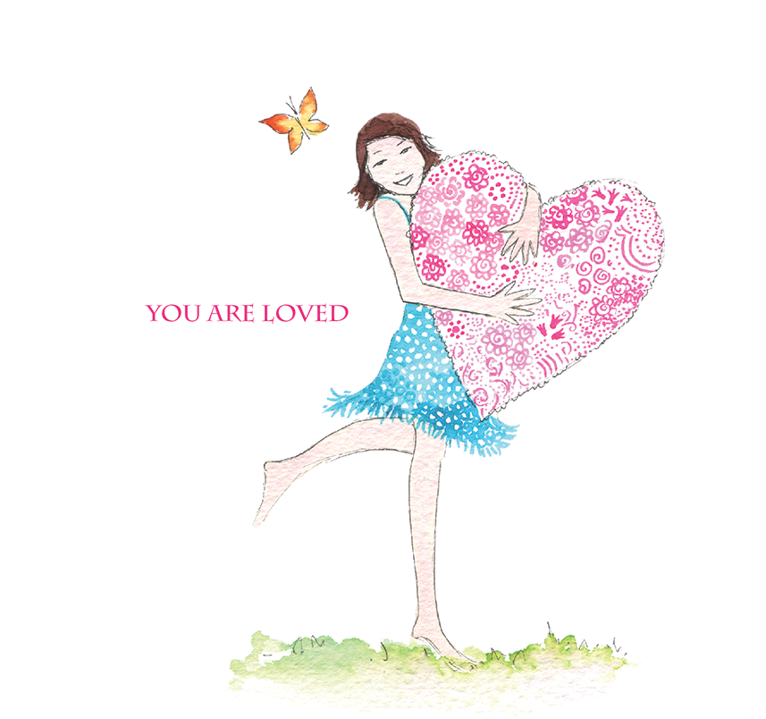 """You Are Loved"" #Heart212 - Greeting Card"