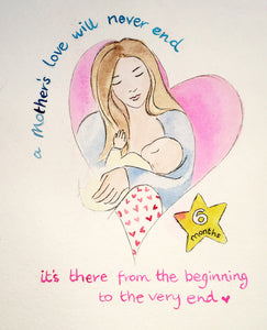Breastfeeding Watercolour and Ink commission