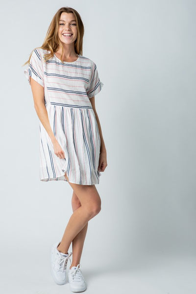 Striped Babydoll T-Shirt Dress