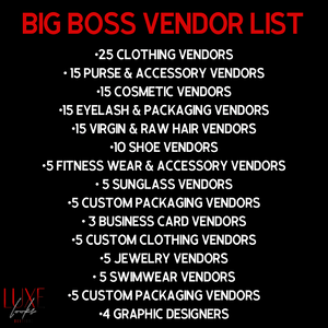 Big Boss Vendor List