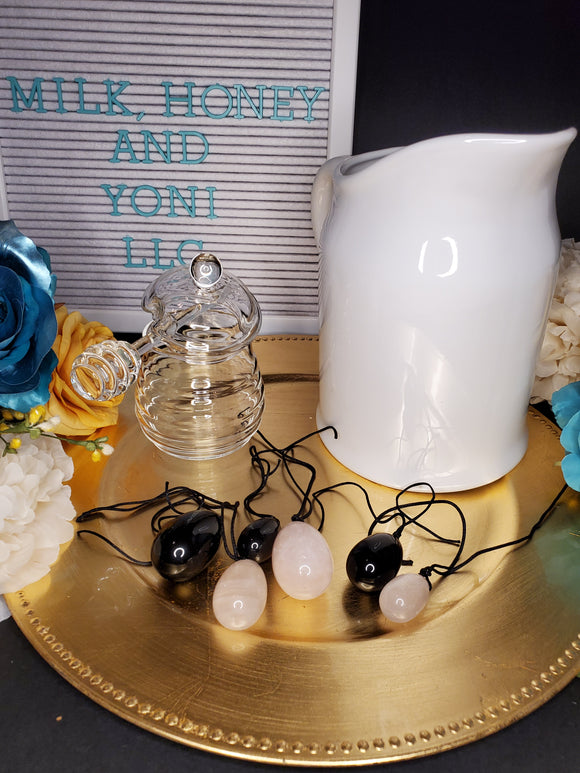 MIMOSA ROSE QUARTZ YONI EGGS