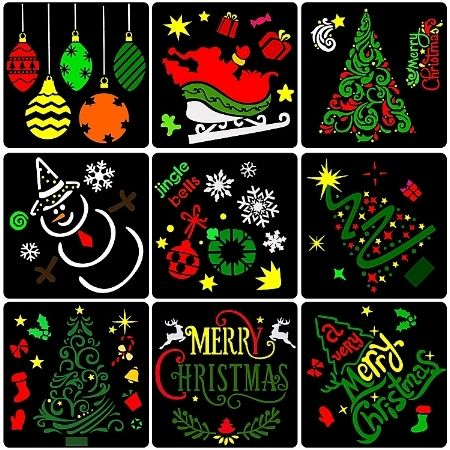 Christmas Drawing Stencil Template