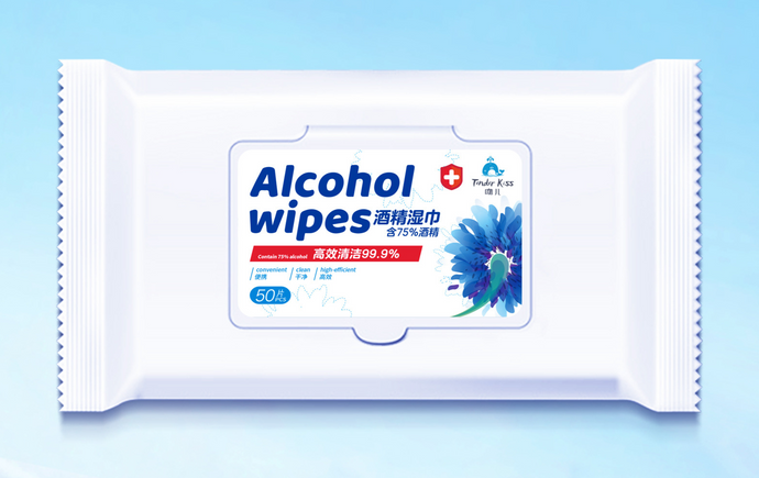 Case of Anti-Bacterial Alcohol Wipes - 75% Alcohol - Case of 32 Packs (Pack of 50 Wipes)
