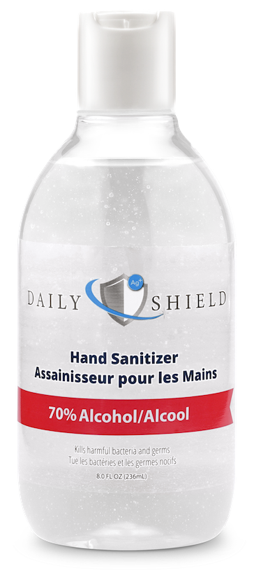DailyShield Hand Sanitizer - 70% Ethyl-Alcohol Hand Sanitizer - 8oz