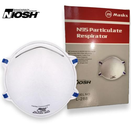 Case of NIOSH / CDC / Health Canada Approved Masks - Case of 400 masks (L-288)