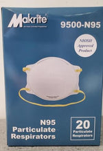 Load image into Gallery viewer, Case of 240 N95 Makrite 9500 - NIOSH / CDC / FDA / Health Canada Approved - Case of 240 Masks