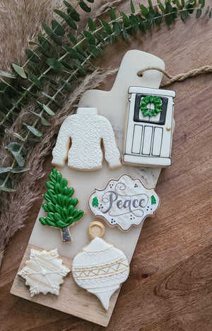 Chic Christmas cookie box