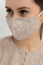 Load image into Gallery viewer, BEIGE FIORENT EARLOOP CLOTH MASK