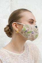 Load image into Gallery viewer, BEIGE LILLE EARLOOP CLOTH MASK