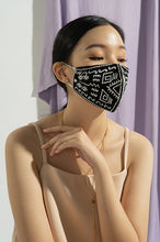 Load image into Gallery viewer, BLACK EDITH EARLOOP CLOTH MASK