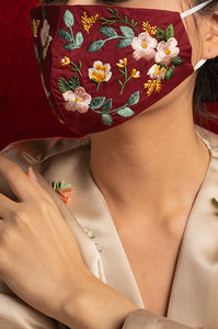RED BLISSE EARLOOP CLOTH MASK