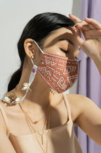 Load image into Gallery viewer, CORAL EDITH EARLOOP CLOTH MASK