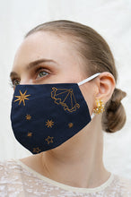 Load image into Gallery viewer, NAVY CELESTE EARLOOP CLOTH MASK