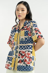 NAVY PATCHWORK AVA