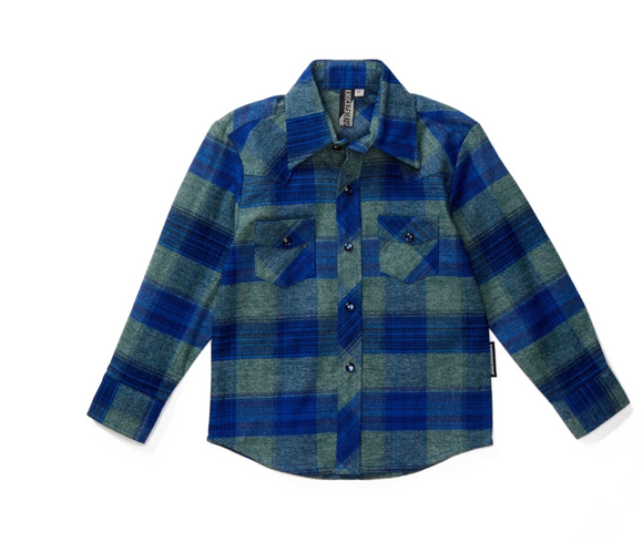 Boys Freemont Plaid Long Sleeve Shirt