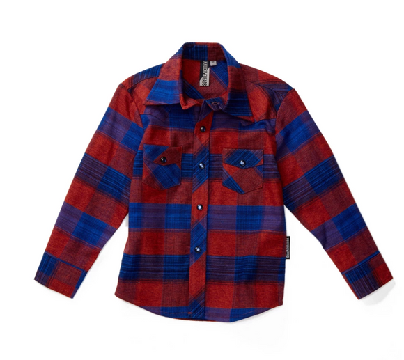 Boys Pete Plaid Long Sleeve Shirt