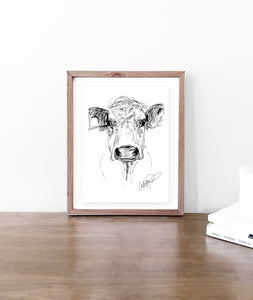 Cow Sketch - Original Art Print
