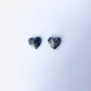 Concrete Heart Stud Earings