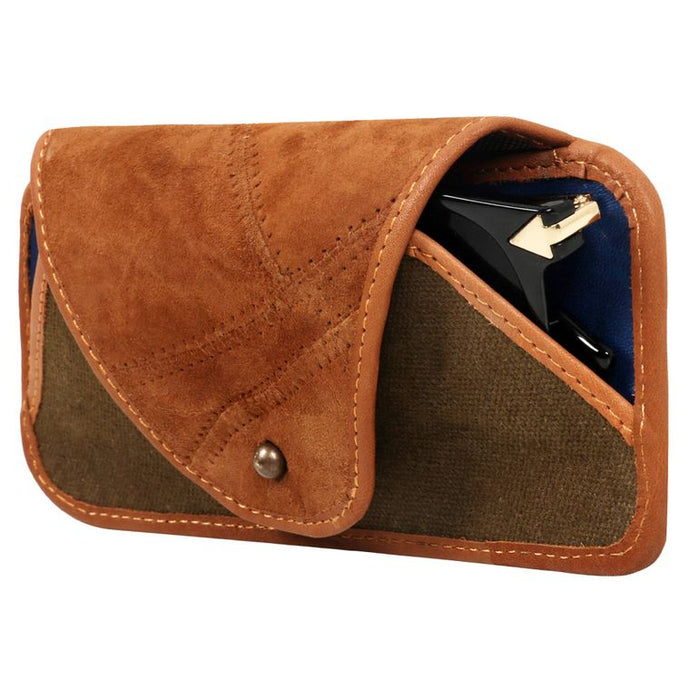 Sunglass Case- Upcycled Genuine Leather
