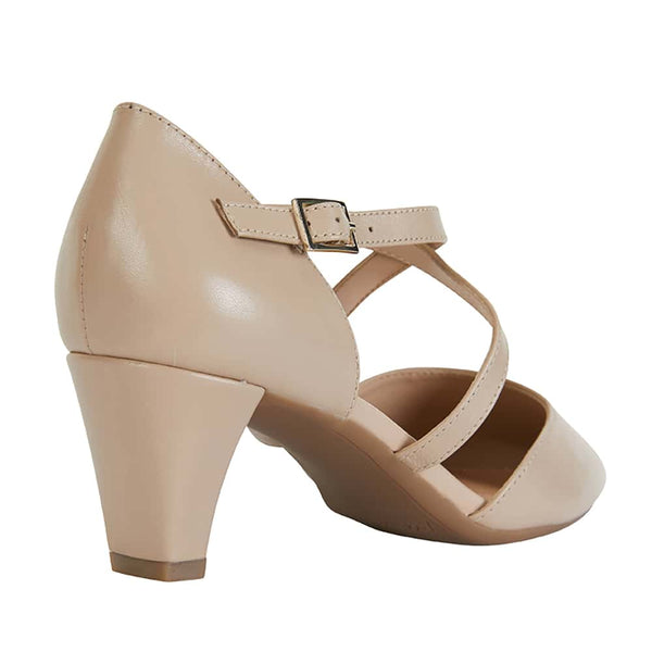 Adison Heel in Nude Leather