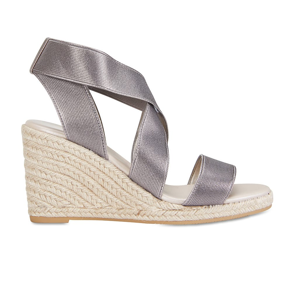 Alamo Espadrille in Pewter Fabric