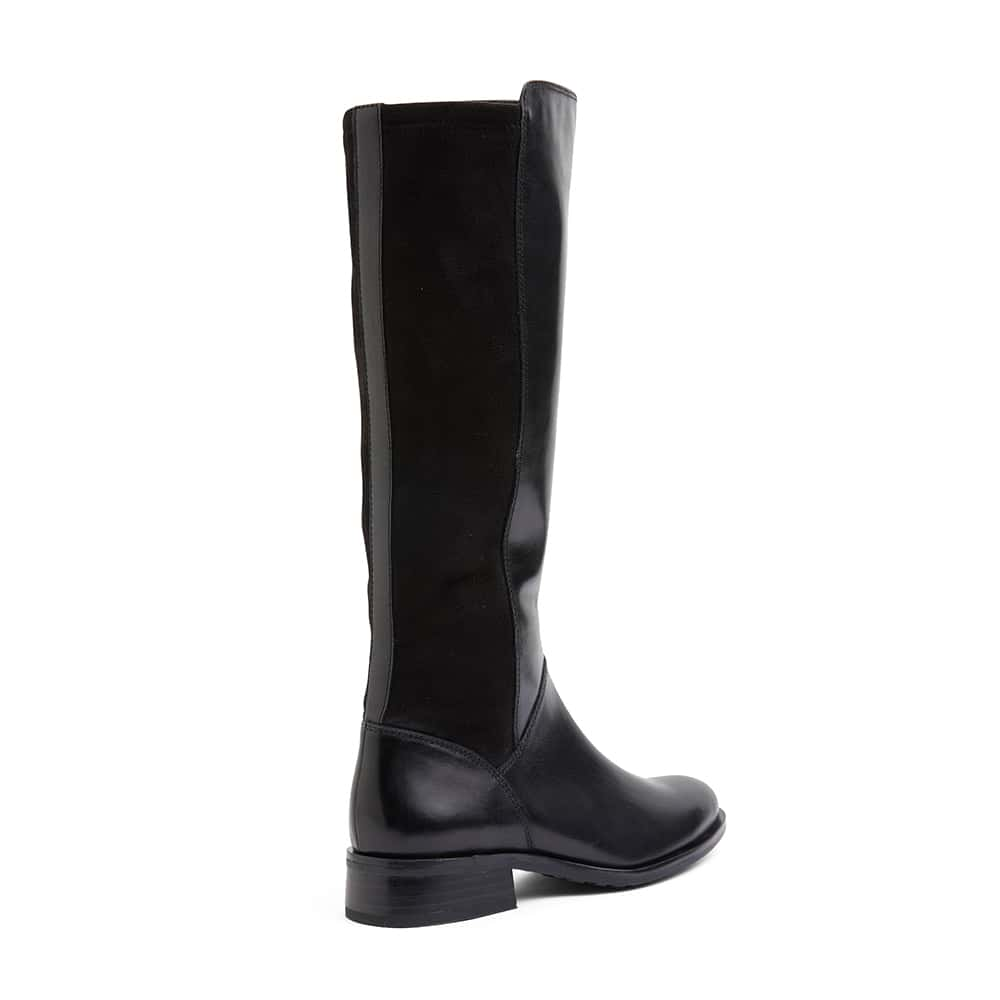 Alastair Boot in Black Leather