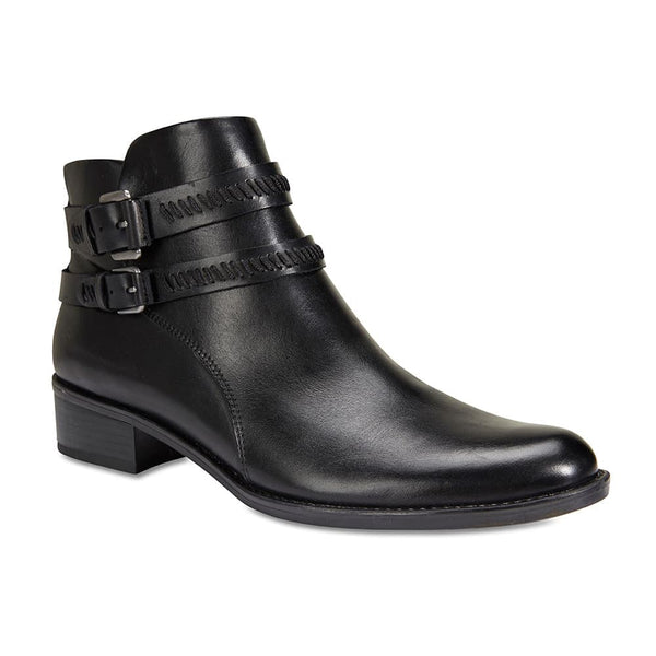 Albany Boot in Black Leather