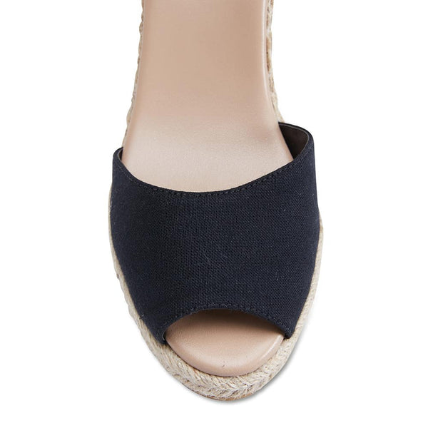 Aloha Espadrille in Black Fabric