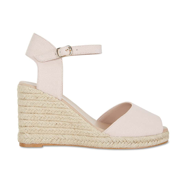 Aloha Espadrille in Blush Fabric