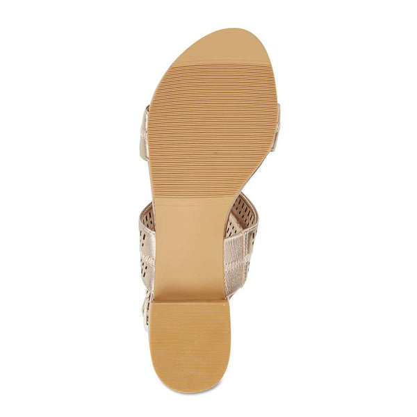 Altona Heel in Soft Gold Leather
