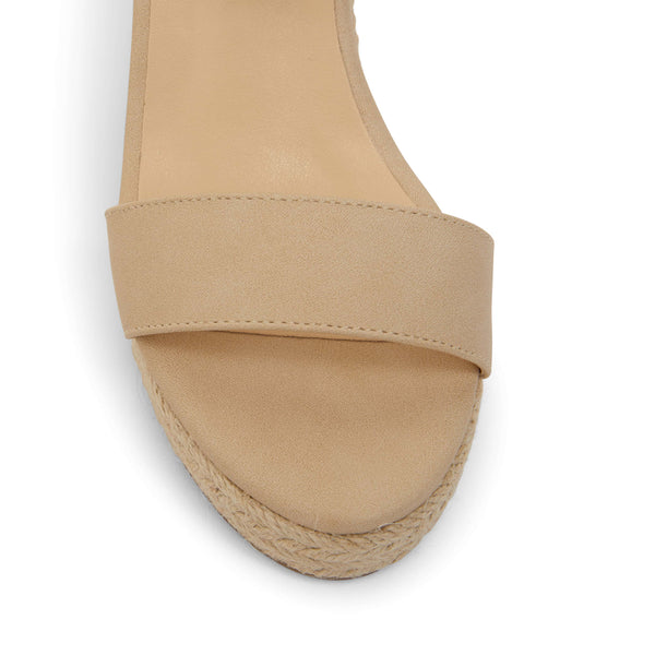 Amato Heel in Nude Fabric