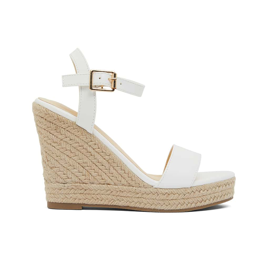 Amato Heel in White Smooth