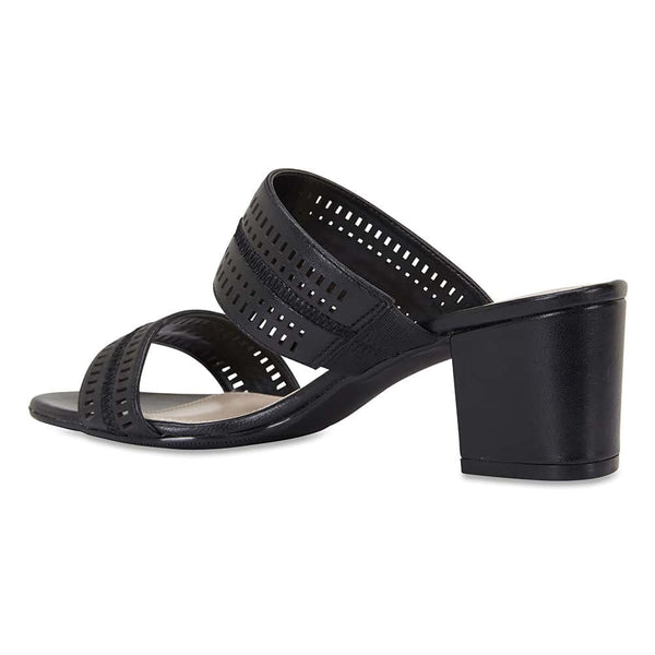 Ambrose Heel in Black Leather