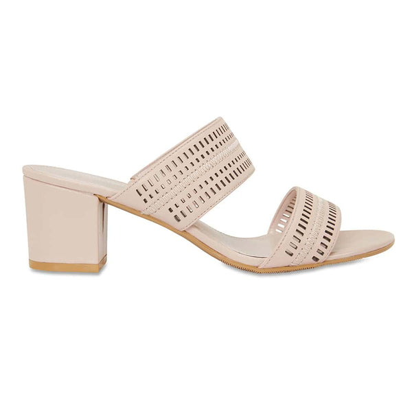 Ambrose Heel in Blush Leather