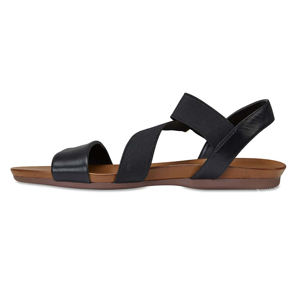 Amity Sandal in Black Leather