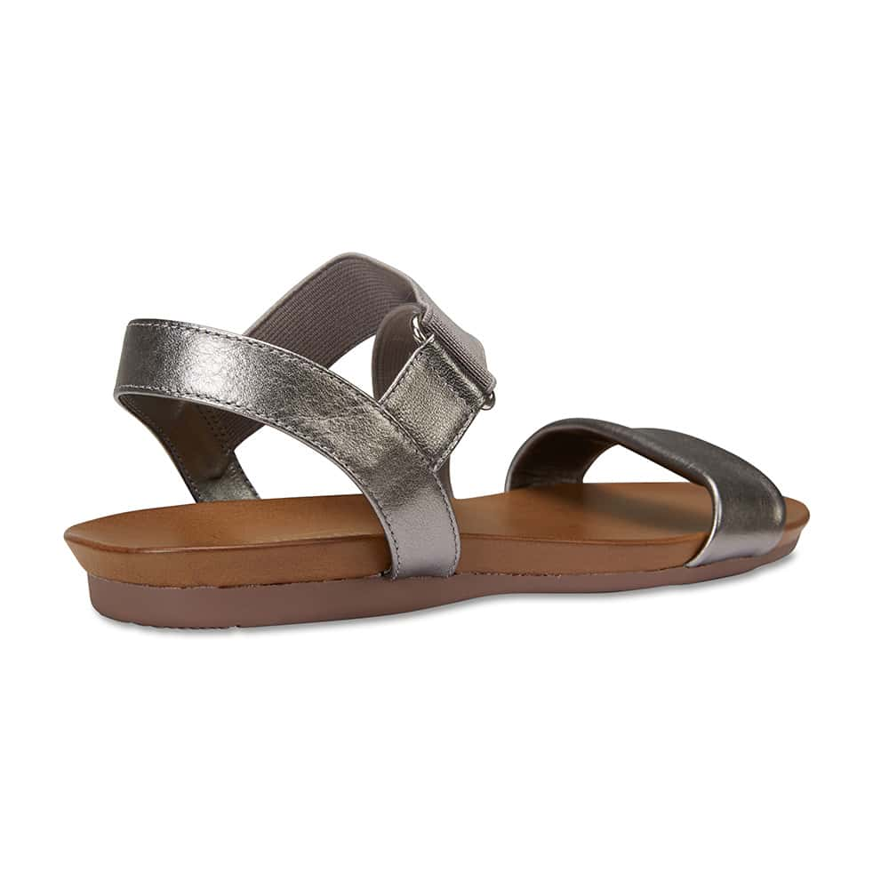 Amity Sandal in Pewter Leather