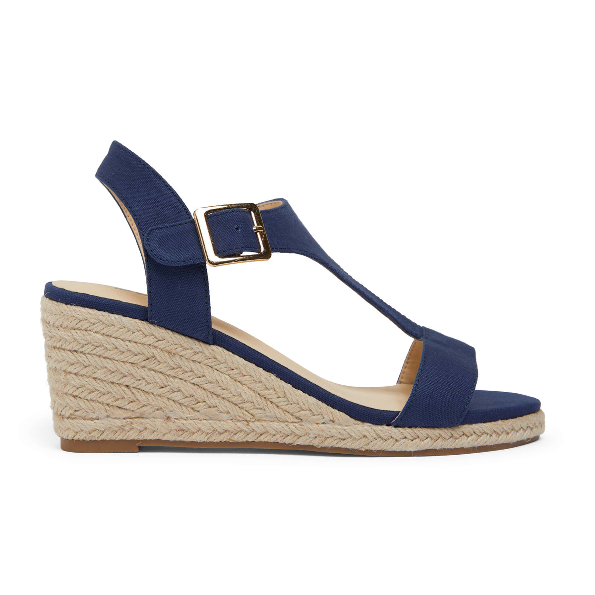 Anchor Espadrille in Navy Fabric