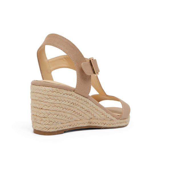 Anchor Espadrille in Taupe Fabric