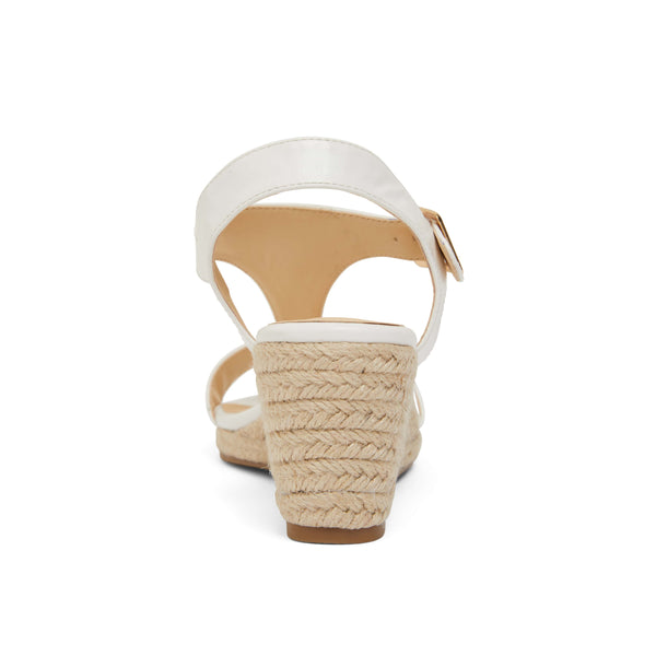 Anchor Espadrille in White Fabric