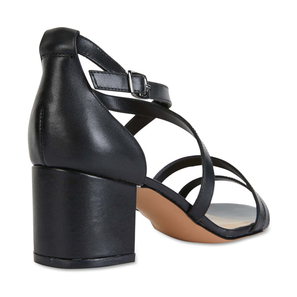 Andie Heel in Black Leather