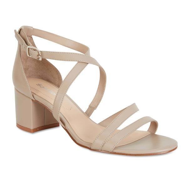 Andie Heel in Nude Leather