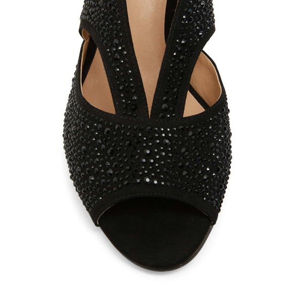 Angie Heel in Black Sparkle