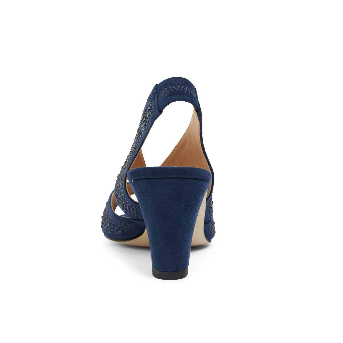 Angie Heel in Navy Sparkle