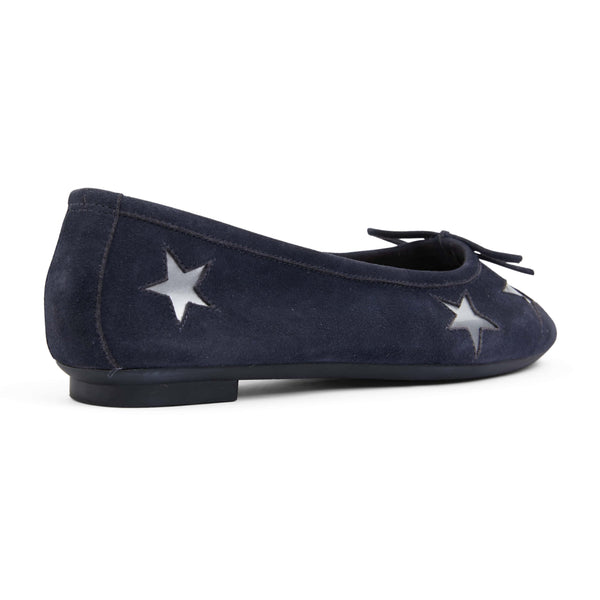 Astral Flat in Navy Suede
