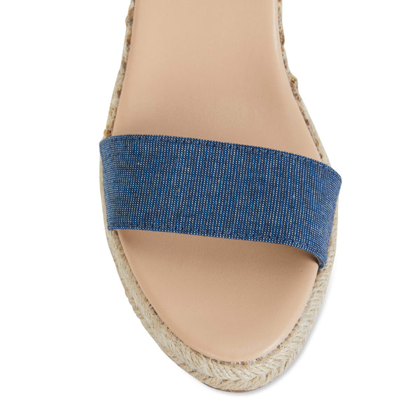 Audrey Espadrille in Denim Fabric