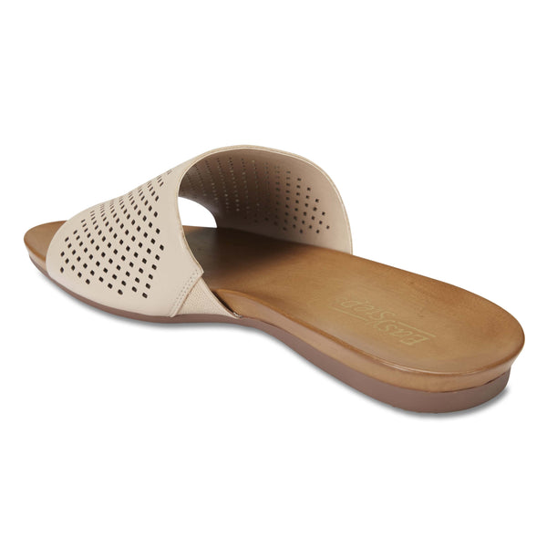 Aztec Slide in Nude Leather