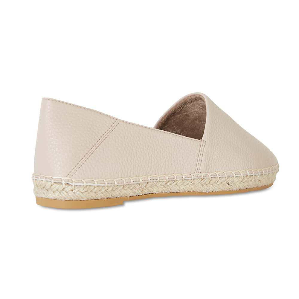 Bella Loafer in Nude Fabric