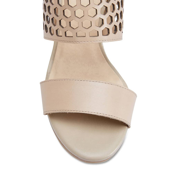 Benson Heel in Nude Leather