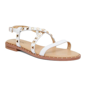 Berry Sandal in White  Leather